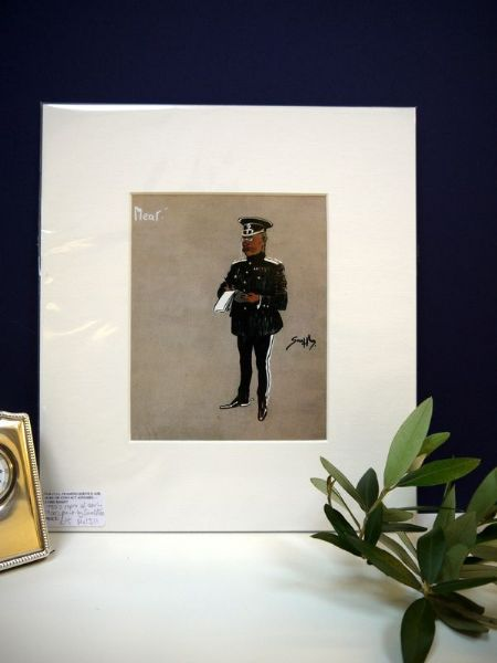The Officer in Black - 1980's print by Snaffles